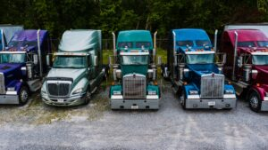 trucks and cargo
