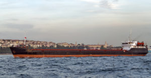 Cargo ship in the Channel Bosphorus Strait